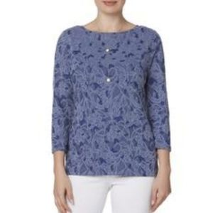 Laura Scott | Blue Floral Top